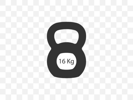 Vector illustration, flat design. Kettlebell sports weight icon