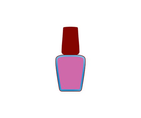 Vector illustration, flat design. Nail polish icon 向量圖像