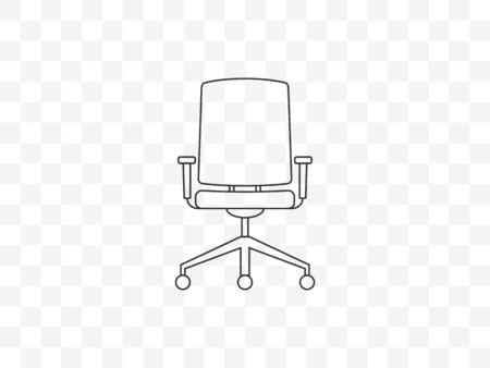 Vector illustration, flat design. Office chair seat icon