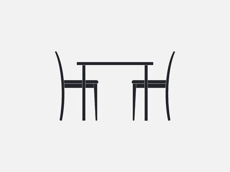 Chair, furniture icon. Vector illustration flat design Ilustração