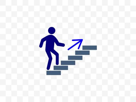 Stairs, stairwell, walks up icon. Vector illustration, flat design. Vector Illustratie