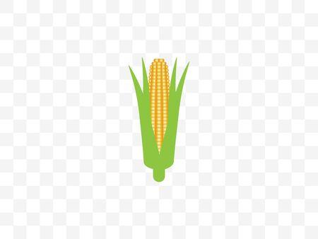 Vector illustration, flat design. Corn food icon