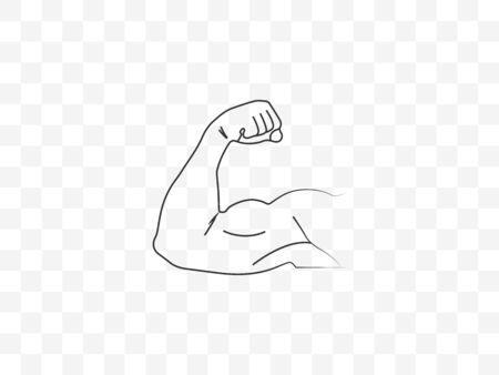 Biceps, muscle icon Vector illustration flat Ilustración de vector
