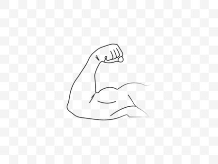 Biceps, muscle icon Vector illustration flat