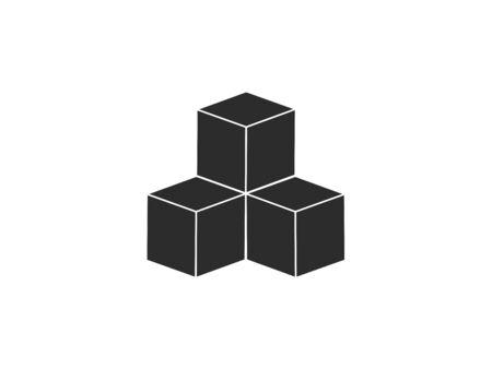 Vector illustration, flat design. Box cube icon Vektorové ilustrace