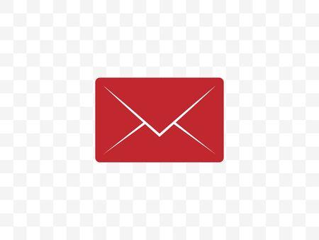 Vector illustration, flat design. Communication envelope message icon Illustration