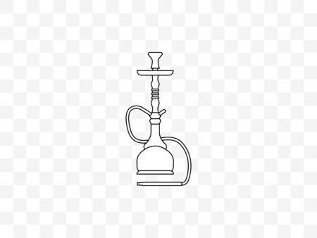 Vector illustration, flat design. Hookah smoking tobacco icon Illustration