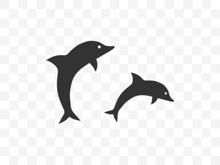 Vector illustration, flat design. Animal dolphin icon