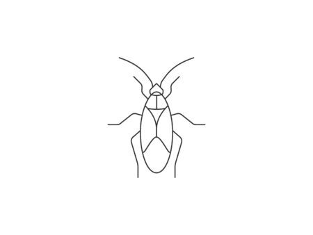 Animal, bug, insect icon. Vector illustration, flat design.