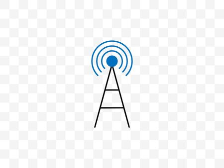 5g, antenna, cell icon. Vector illustration, flat design.