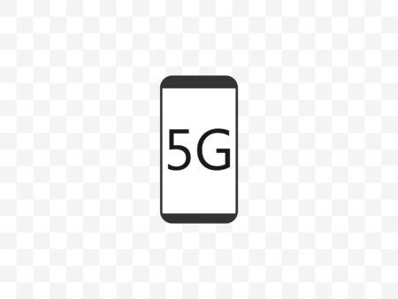5g, wireless, phone icon. Vector illustration, flat design.