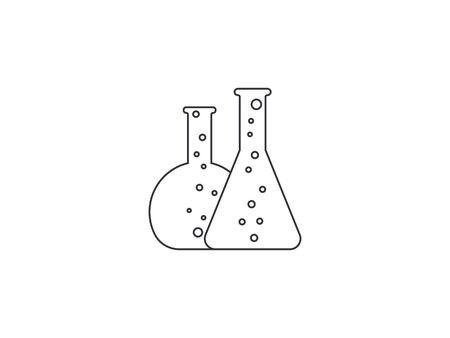 Vector illustration, flat design. Biology experiment flask icon