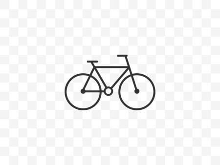 Vector illustration, flat design. Bicycle bike icon Иллюстрация