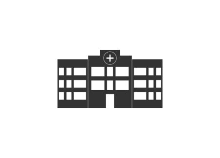 Vector illustration, flat design. Building clinic hospital icon