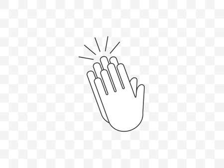 Applause, clap hands, ovation icon. Vector illustration, flat design. Иллюстрация