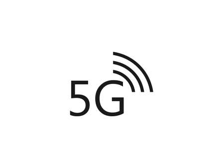 5g, wireless icon. Vector illustration, flat design.