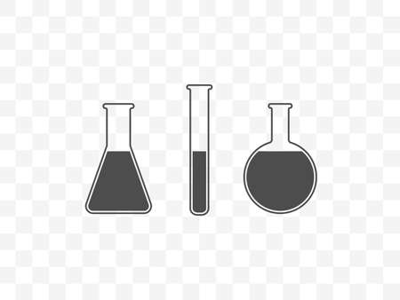 Vector illustration, flat design. Biology experiment flask icon