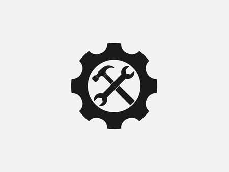 Vector illustration, flat design. Service technical tools icon