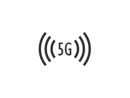 Vector illustration, flat design. 5g wireless icon