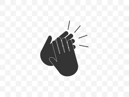 Vector illustration, flat design. Applause, clap hands ovation icon Фото со стока - 151344034