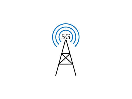 5g, antenna, cell icon. Vector illustration, flat design. Фото со стока - 151550644