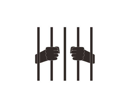 Jail, prison icon Vector illustration, flat design.