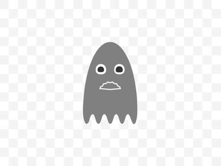 Vector illustration, flat design. Halloween horror ghost icon