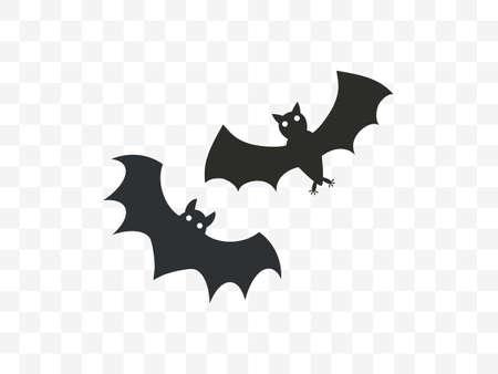 Vector illustration, flat design. Halloween horror bat icon