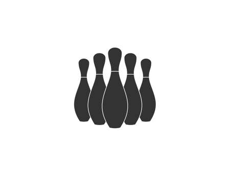 Vector illustration, flat design. Bowling game strike icon