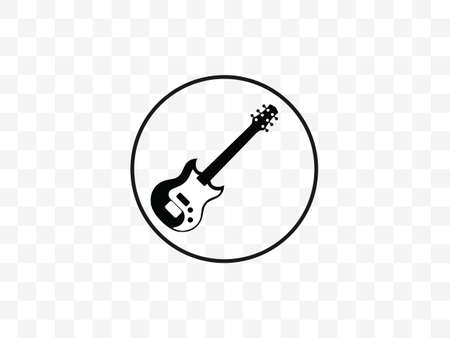 Vector illustration, flat design. Guitar instrument music icon