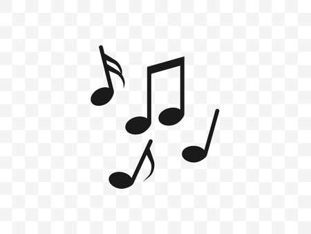 Audio, music note, notes icon Vector illustration flat Иллюстрация