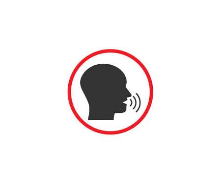 Vector illustration. No talking, quiet silence icon Illustration