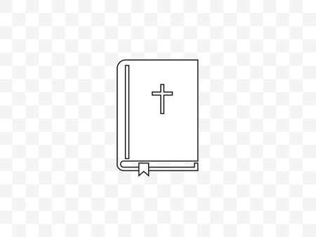 Bible, book cross icon Ilustrace