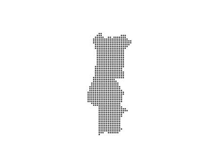 country dotted map. Vector illustration.