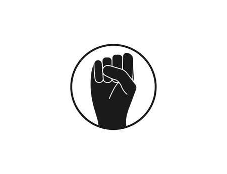 Bump, fist icon on white background.