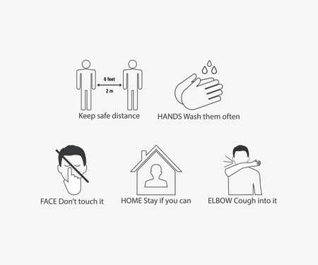 Vector illustration. Help stop coronavirus 向量圖像