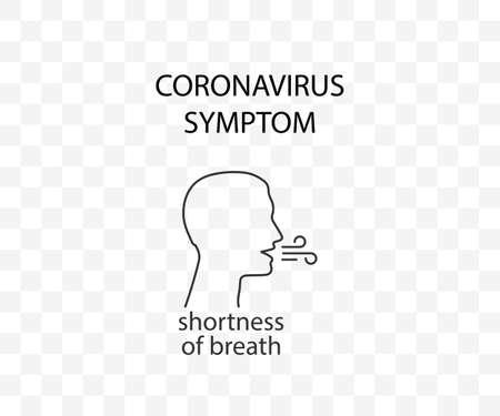 Coronavirus symptom, shortness of breath, covid-19 Vector