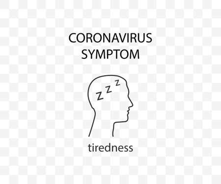 Coronavirus symptom, tiredness, covid-19 Vector illustration 向量圖像