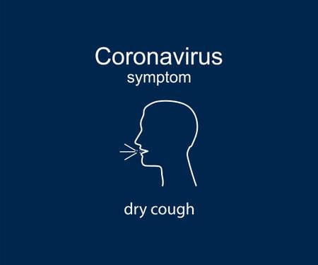Coronavirus symptom, dry cough, covid-19 Vector