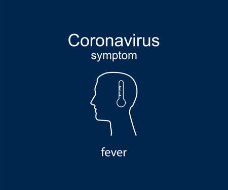 Coronavirus symptom, fever Vector illustration flat