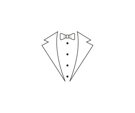 Bow tie, dress code Vector illustration