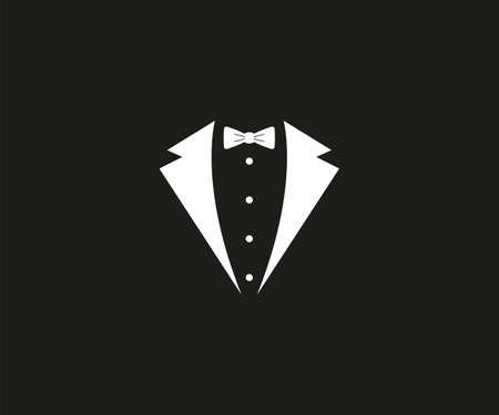 Tuxedo, bow tie, dress code icon. Vector illustration.