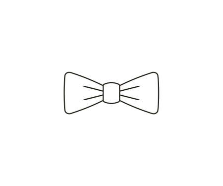 Bow tie, dress code icon. Vector illustration. Vettoriali