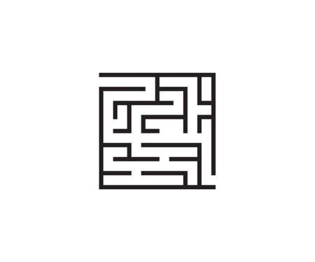 Labyrinth, maze, strategy icon. Vector illustration, flat.