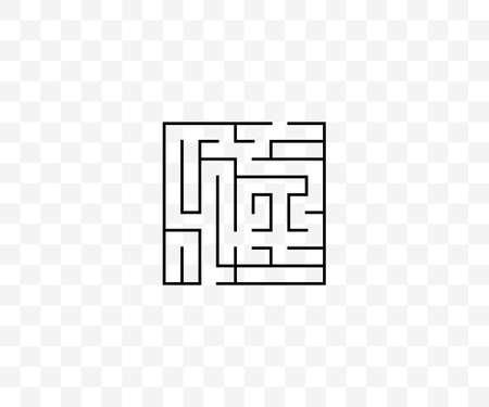Labyrinth, maze, strategy icon on transparent background. Vector illustration.