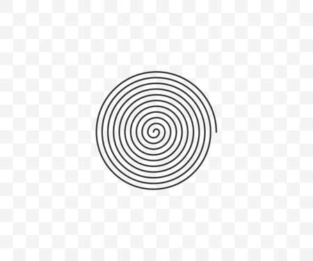 Circle, helix, scroll, spiral icon. Vector illustration. 矢量图片