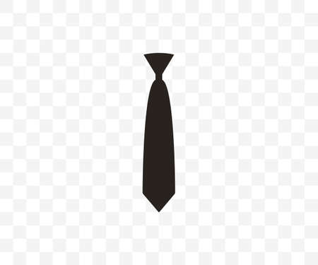 Tie, dress code icon. Vector illustration, flat