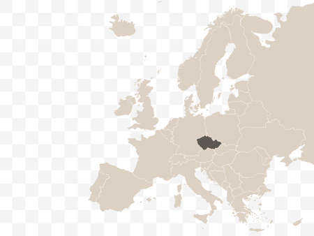 on Europe map vector. Vector illustration.