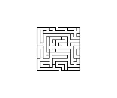 Vector illustration. Labyrinth maze strategy icon Vettoriali