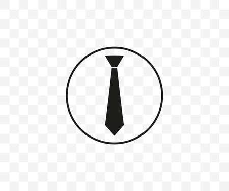 Tie, dress code icon flat vector
